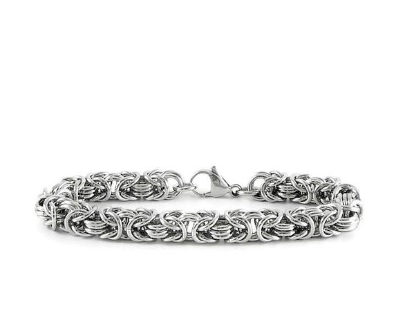 11 Wedding Anniversary Gift Ideas: 11th Anniversary Stainless Steel Bracelet Anniversary Gift