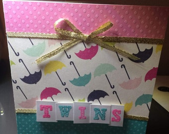 Twins Card - Baby Shower - New Baby