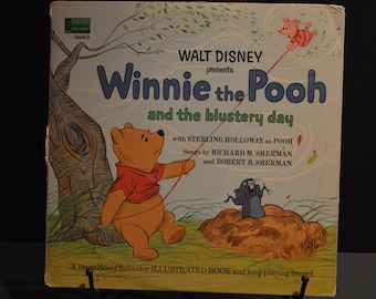 1967 Disneyland Record #3953 Walt Disney presents Winnie the Pooh and the blustery day. -Record and 11 Page Book
