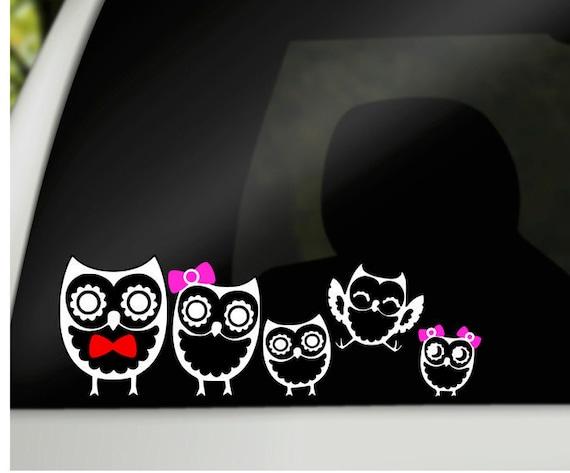 Owl Family Car Decals Family Car Stickers Car Window - Window stickers for cars family