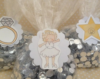 Marilyn Monroe Party Favor or Candy Bags with Tags - Set of 10