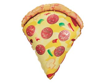 """29"""" Pizza Balloon - Pizza Party - Pizza Party Decorations - Movie Party - Pizza Lovers - Chef Party - Pizza Decor - Pizza Party Favors - Pie"""