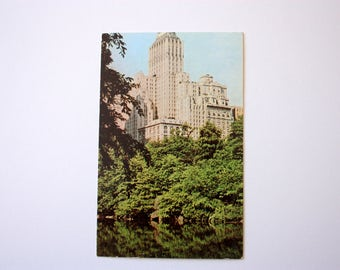 Barbizon Plaza Hotel New York Postcard / Hotel Postcard / Central Park New York City Postcard