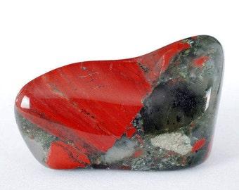 Bloodstone Heliotrope Tumbled Stone, Bloodstone Heliotrope Tumbled Stones, Bloodstone Heliotrope Tumbled Stone, Heliotrope Crytsals, Gift