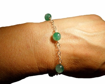 Beautiful Jade Sterling Silver 925 Bracelet
