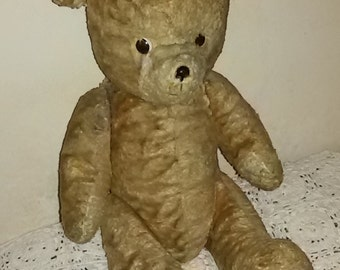 Antique French / Teddy bear articulated with system squeaker /Antique teddy bear