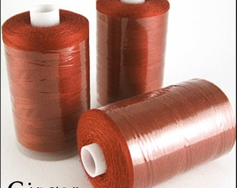 Box of 12! Ginger 1000 Yard Polyester Thread Spools! 120 Gauge!