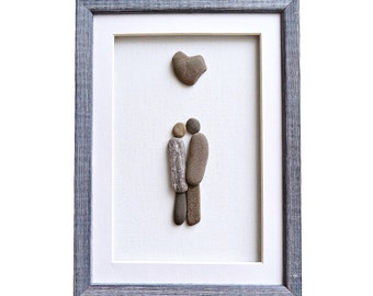 Pebble art family gift new home housewarming by pebbleartdream for Minimalist gifts for housewarming