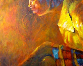 Original Painting, Wall Canvas Art, Portrait Painting Contemporary Art, Original Oil Painting, Figure Art Painting Original