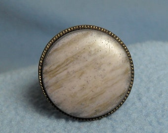 Beautiful Stone Disc Ring~ Adjustable