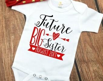 Future Big Sister - Big Sister Baby Bodysuit - Big Sister to Be - New Big Sister Shirt - Personalized Big Sister - Big Sister Outfit