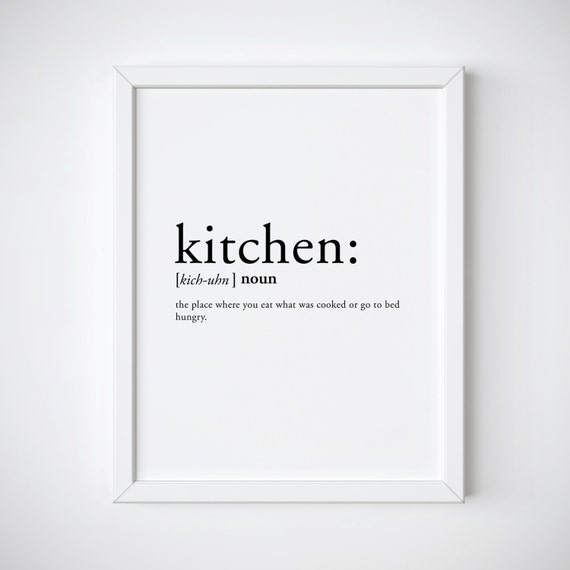 Kitchen Definition Kitchen Print Dictionary Print