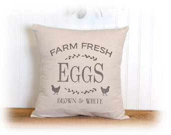 Chicken, Farm Fresh, Eggs, Pillow Cover