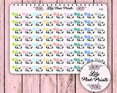 72 Tired Stickers T-41 - Perfect for Erin Condren Planner Stickers / Life Planners / Journals / Stickers.