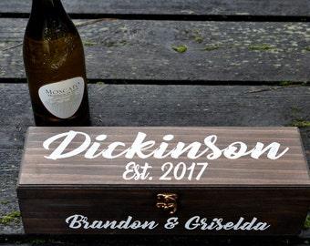 Wedding Wine Box, Wine Box, Personalized Wine Box, Ceremony Wine Box, Anniversary Wine Box, Custom Engraved Wine Box