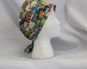 Rugrats Colorful Surgical Scrub Cap Dentist Vet Chemo Hat