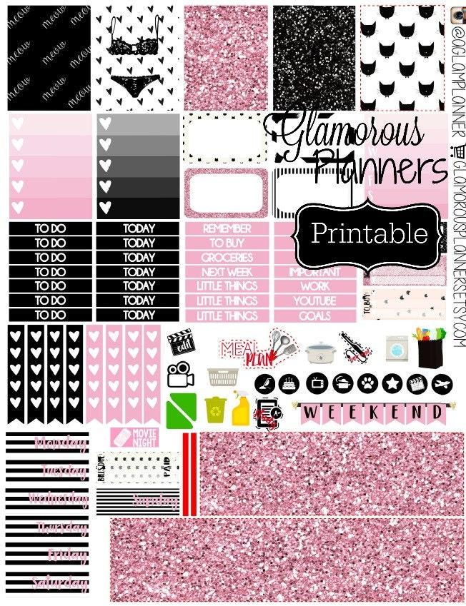 Sex Kitten Vday Stickers Printable Planner Sticker Weekly