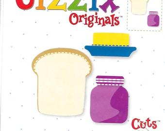 Sizzix  Originals - 38-0914 - OOP - Toast, Butter & Jam - Big Size -  NIP/unused