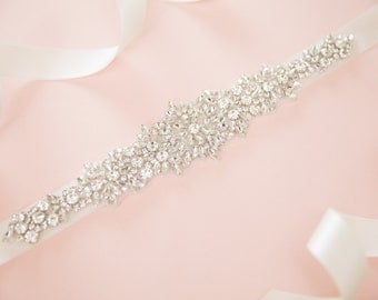 Bridal sash - wedding sash - bridal belt - wedding belt - rhinestone sash - crystal sash - rhinestone bridal belt - bridal sashes and belts