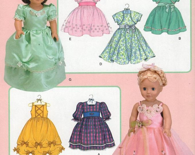 "Simplicity 3547 Free Us Ship Elaine Heigl Designs Disney Princess 18""Doll Clothes Wardrobe New Sewing Pattern Fits American Girl"