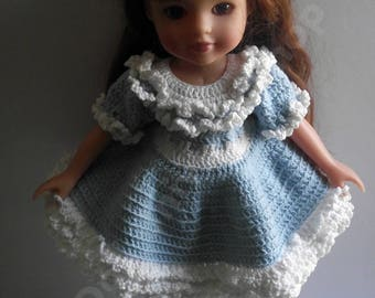 Hand Knitted and crochet set for Tonner  doll 14 inch, Hearts for Hearts,paola reina