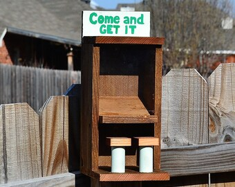 Cedar Bird / Squirrel Feeder Bar - Saloon - Cafe