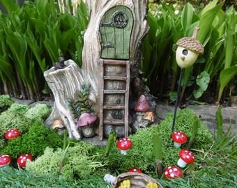 Tree stump fairy house,tree house,fairy tree house,fairy garden,
