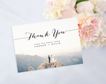 Photo Thank You Card, Custom Photo DIY Thank You Postcard, Print at Home Card, Digital