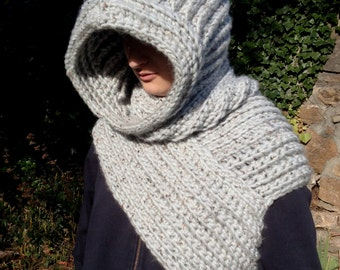 Hooded Archer's Sweater With Assassin' Hood -  READY TO SHIP - Medieval/Cosplay/Wasteland/Post-Apocalyptic/Dystopia/Steampunk/Hunter/Larp