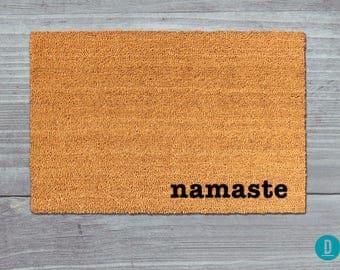 Namaste Doormat, Namaste Door Mat, Namaste Welcome Mat, Yoga Doormat, Hindu Door Mat, Yoga Welcome Mat, Yoga Mat, Yoga Door Mat, Namaste Mat