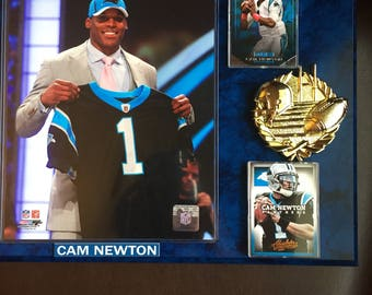 CAM NEWTON Football Plaque 12 x 15 Carolina Panthers