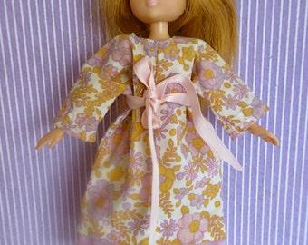 LOTTIE DOLL NIGHTGOWN or 1970s Prarie Dress - to fit all slender 7.5 inch dolls like Lottie, Mini American Girl, Miss Amanda Jane