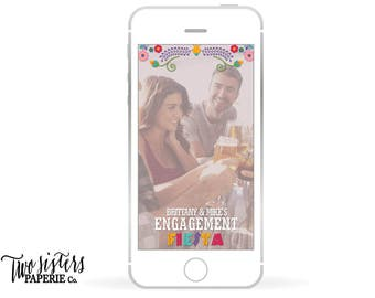 FIESTA Snapchat Filter - Engagement Party Snapchat - Fiesta Engagement Party - Engagement Fiesta Snapchat - Engagement Snapchat