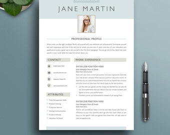 resume template 3 modern creative professional boutique style cv with photo - Creative Resume Template Download Free