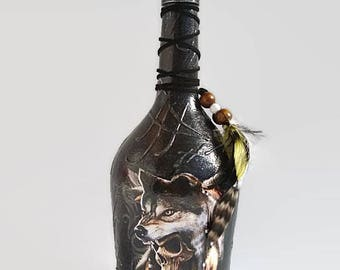 Glass cognac bottle – Etsy