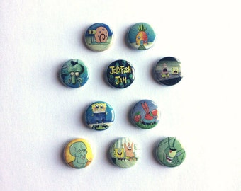 Spongebob Squarepants Multi-Pack of 1 inch pinback buttons