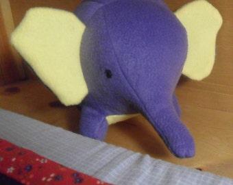 Purple Stuffed Elephant