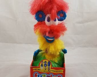 Vintage FUZZLES by ERTL 1990's Look Changing Toy, Crazy Characters Fuzzy Fuzzle Fun, Children's Building Funny Character Toy, Collectible