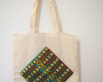 Raw cotton vegan Fairtrade tote bag