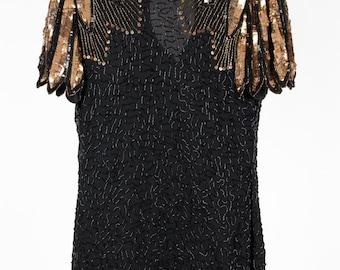 Stunning vintage sequin evening dress