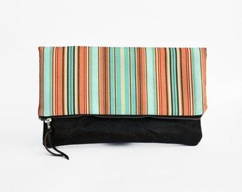 Leather Foldover Clutch, Leather Clutch, Clutch Bag, fold over clutch, Clutch Purse, Clutch Wallet, Tablet case