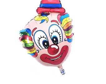"""31"""" Clown balloon. Cute clown. Creepy clown. Circus party. Circus decor. Clown balloon. Circus. Clown decor. Vintage clown. Balloons"""