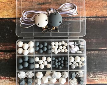 DIY teething necklace kit - Wholesale Silicone beads - DIY pacifier clip kit - Silicone Beads - DIY nursing necklace - marble Wholesale