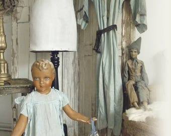Beautiful antique mannequin, display dummy, child, Siegel Paris ...CHARMANT!