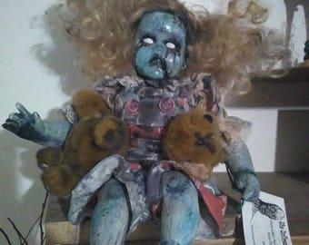 Sad Doll with Broken Teddybear! Possibly Possessed!