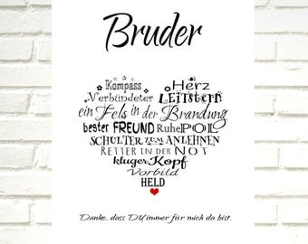 "Print / Druck ""BROTHER heart"""