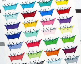 Planner Stickers Bubble Bath for Erin Condren, Happy Planner, Filofax, Scrapbooking