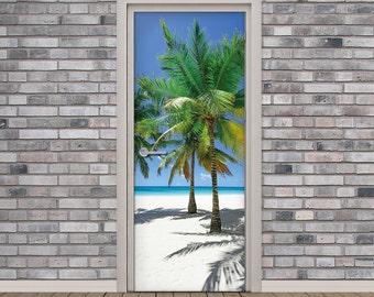 Barn Door Wood Texture Door Decal Self Adhesive Vinyl High