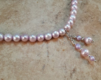 Genuine Pearl & Birthstone Necklace - JUNE