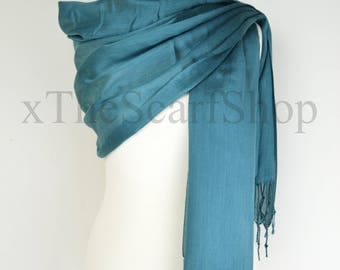 Teal Shimmer Fine Shawl,Wrap,Scarf,Cover Up,Formal,Wedding,Gift,Party,Mother of the Bride,Bridesmaid,Prom,Lightweight Shawl,Shiny,Cruise